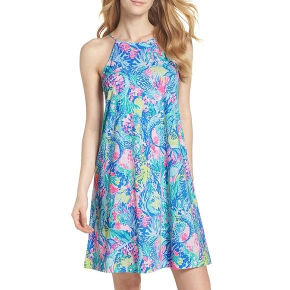 "New Lilly Pulitzer Women/'s Margot Dress /""Mermaid Cove,/"" XXS-XL"